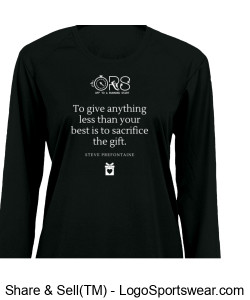 Ladies Performance LS T Steve Prefontaine Quote Design Zoom